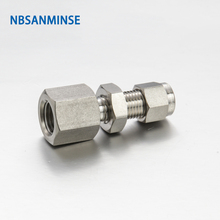 5 Pcs / Lot BFC Bulkhead Female Connector Stainless Steel 316L Tube Fitting Plumbing Fitting High Quality Sanmin цена 2017