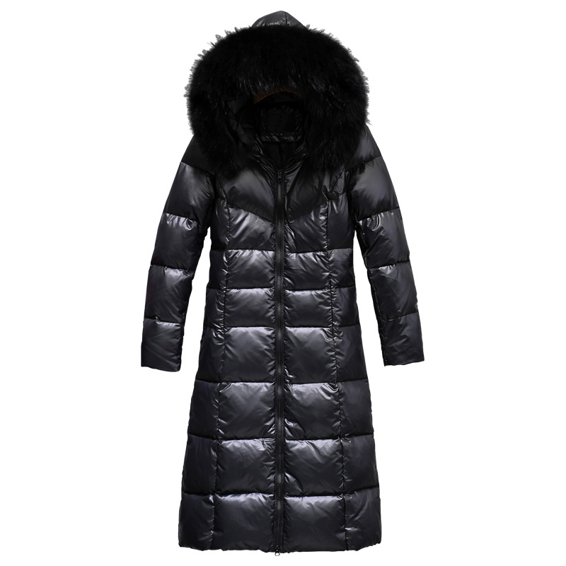 Fur Imbottito Coreano Più Il Parka Inverno black Con White