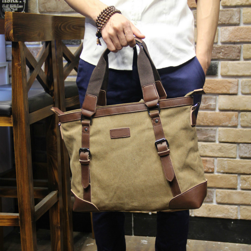 Tidog The new business men bag shoulder bag canvas leisure inclined briefcaseTidog The new business men bag shoulder bag canvas leisure inclined briefcase