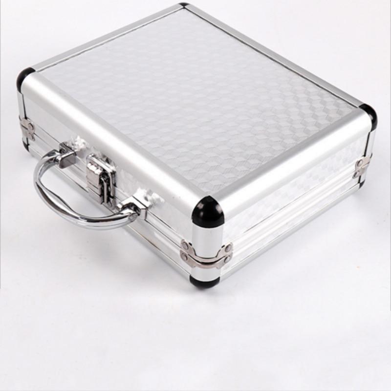 Silver Aluminum Alloy Tattoo Machine Gun Box Case Tattooing Kits Tattoo Supply Permanent Makeup Accessories