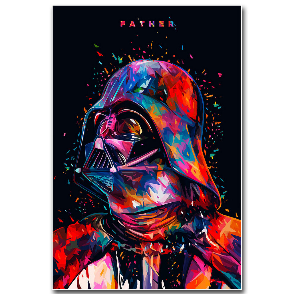 Star Wars 7 The Force Awakens Art Silk Fabric Poster Print 13×20 24×36 inch Movie Darth Vader Picture for Room Wall Decor 002