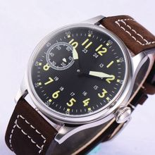 2019 NEW Arrive 44mm Black Dial Top Brand Luxury 17 Jewels 6497 Hands Winding movement Solid Case Mechanical Mens Wristwatches