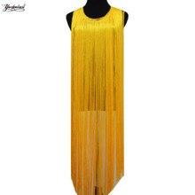 Long Fringe Tassel Polyester Chainette Fringes Latin Dress Macrame Lace 1 Yds Samba DanceWear Trimming Trims 50-100cm