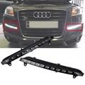 For 2007-2009 Audi Q7 LED DRL Driving Daytime Running Day Fog Lamp Turn Signal Light 11Leds