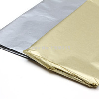 Silver & Gold papel tissue 50x66 cm, 100 pçs/lote flor, vinho, festa de casamento decoração de presente de papel de embalagem de chocolate material de embalagem