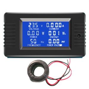"Image 1 - Peacefair 6in1 220V 100A AC שלב אחד דיגיטלי לוח Amp וולט הנוכחי מטר ואט גורם כוח קוט""ש אנרגיה מד עם סליל CT"