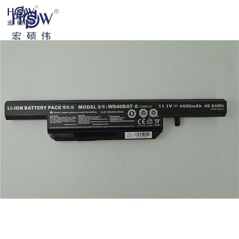 HSW genius  laptop battery For Clevo W155u W540eu W550 W550eu W55eu W540 W540bat-6 Licr19/66-2 6-87-w540s-4w41 bateria
