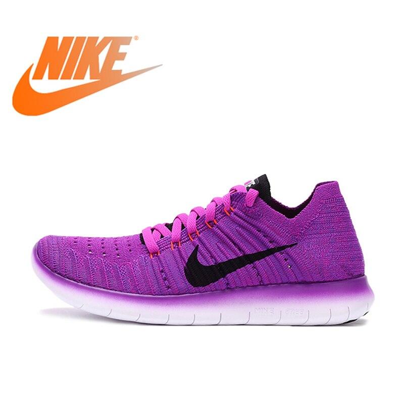 Original NIKE libre Flyknit pieds nus femmes léger confortable chaussures de course baskets en plein air marche Jogging confortable 831070