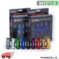 D1SPEC 20 pcs Racing Wheel Lug Nuts M12X1.5 para Honda para a Ford para a Toyota TK-650NUTS-L-1.5-FS