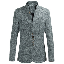 Loldeal 2018  Male Autumn Spring Mandarin Collar Single Breasted Suit Fashion Suits Chinese style Blazers Brand Casual