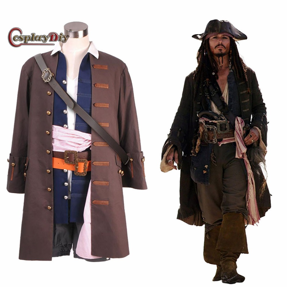 Pirates of the Caribbean Cosplay Barbossa Jacket Coat only Costume Men Halloween
