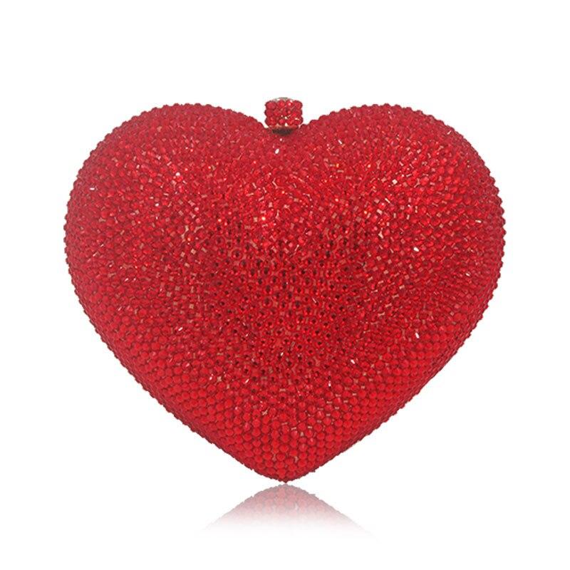 De Rouge Sac En Black Femmes Coeur Dames Pour Pochette Fête gray Soir Forme red Cristal Portemonnaie diy Strass Luxe Diamant Mariage F4rF5qxwB