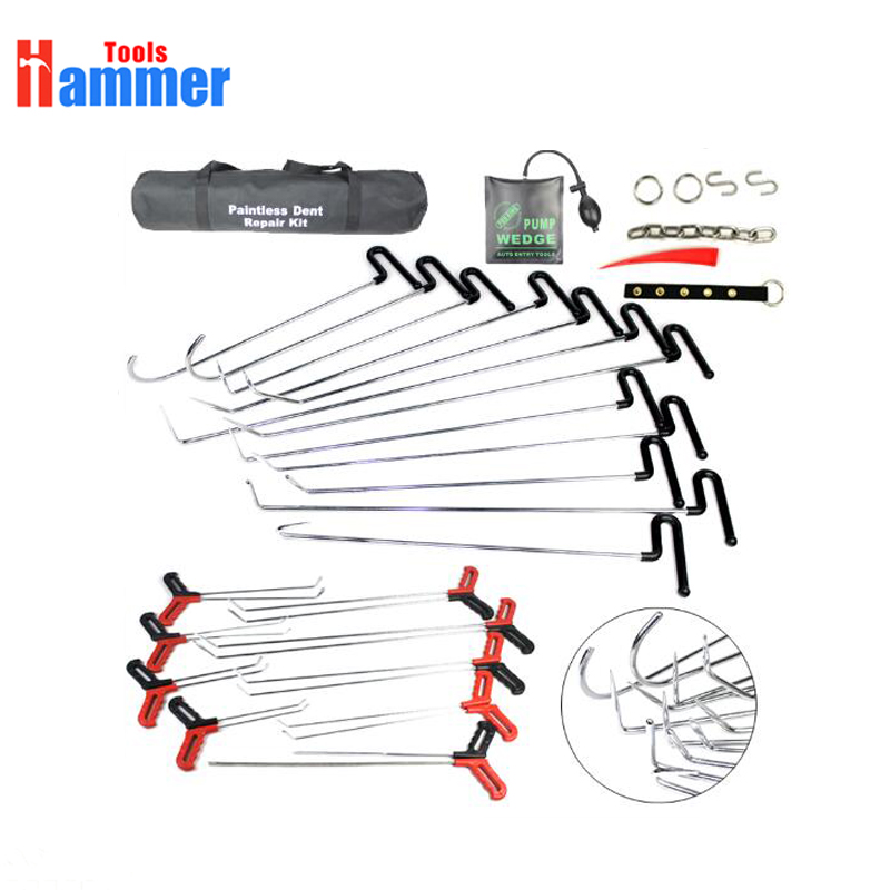 39pcs New Paintless Dent Repair Tools Set Car Dent Repair Tool Set Bag Spring steel hook