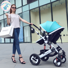 Russian free shipping strollers sit folding lightweight portable baby child high landscape damping four seasons stroller winter