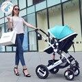 Russian frete grátis carrinhos sit dobrável leve e portátil bebê criança alta paisagem carrinho de amortecimento quatro estações de inverno