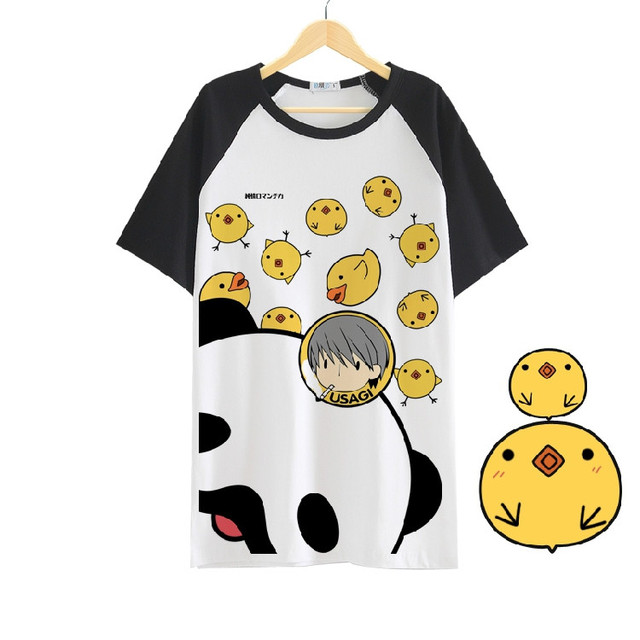 New Anime Junjou Romantica Cosplay T-shirt Short Sleeve T Shirt Fashion Men