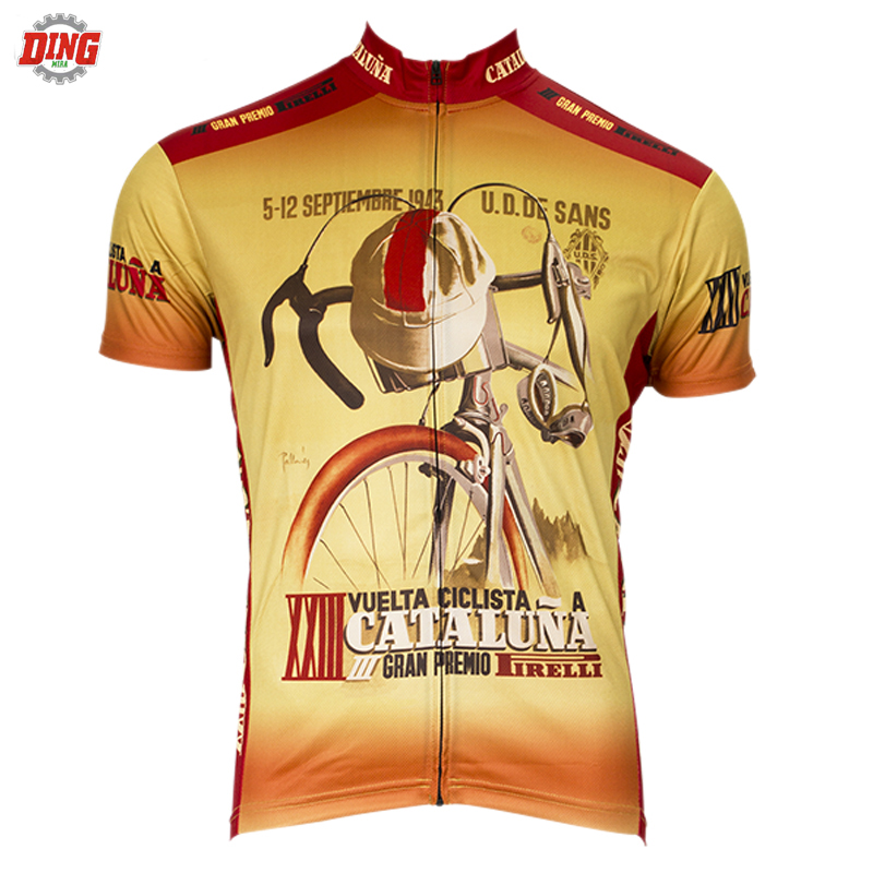 ea135400c Men Short sleeve Cycling jersey ropa Ciclismo Retro cycling clothing Bike  wear top Brand Outdoor sports Bicycle shirt MTB