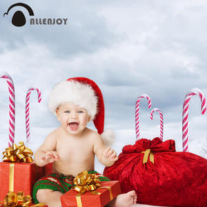 Allenjoy photocall backgrounds for photo studio clouds font b white b font red crutch candy