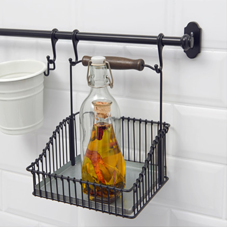 single bathroom shelves vintage iron storage baskets dish bowl drain rack wall hanging flavoring rack home decorat