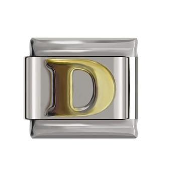 Hapiship Original Daisy Gold 26 Letters A-Z Italian Charm Fit Bracelet Stainless Steel Jewelry Making 4