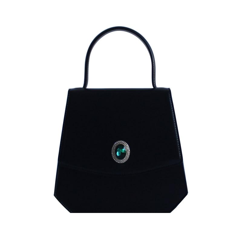 Conception Unique de concepteur Vintage femmes diamants noir sacs à main dame PU en cuir Messenger épaule Mini sac OL sacs sac à bandoulière