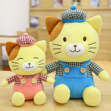 2 colors cute Wearing a hat cat font b plush b font toy doll creative gift