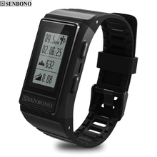 SENBONO S909 built-in GPS Tracker Smart Band Heart Rate Monitor Fitness Tracker  IP68 Waterproof Wristbands  Outdoor