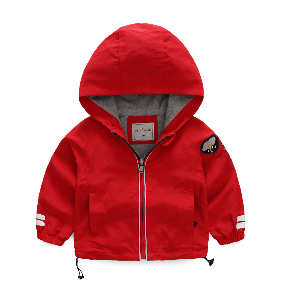 New High-quality Autumn spring children hoodies Windbreaker Boys cotton Jackets baby kid coat clothes zipper Childrens clothing