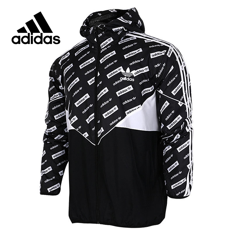 Original New Arrival Official Adidas Originals CLRDO WB AOP Men's Woven jacket Hooded Sportswear adidas new arrival official ess 3s crew men s jacket breathable pullover sportswear bq9645