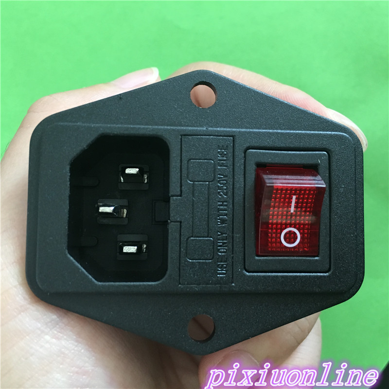 Electrical Sockets Faithful 1pc Yt977y Ac Power Outlet With Lamp Fuse The Switch Equipment Power Socket 250v 10a Copper High Quality On Sale Diversified In Packaging Electrical Equipments & Supplies