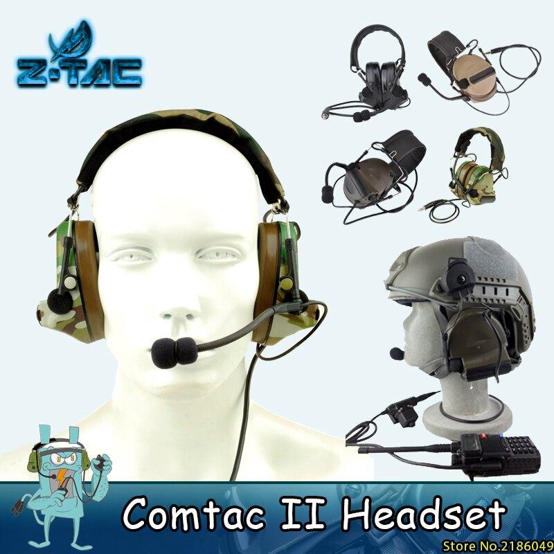 Z-Tactical Softair Aviation headset Comtac ii Headset Peltor zajszűrő fejhallgató Vadászat airsoft fülhallgató paintball Z041