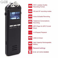 8GB Professional HD Digital Voice Recorder Dictaphone Pen With Mp3 Voice Activated External Microphone For Meetings
