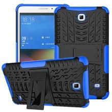 Силиконовый защитный чехол из ТПУ+ поликарбоната с подставкой для samsung Galaxy Tab 4 7,0 SM-T230 T235 T231Rugged Hybrid Tablet, защитный чехол+ пленка+ ручка