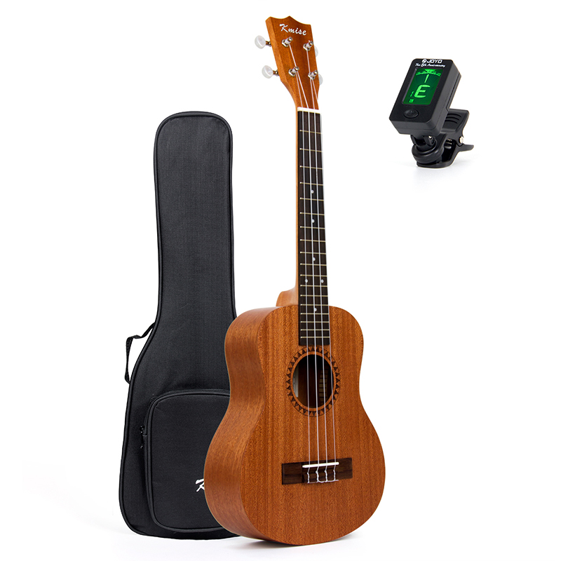Kmise Tenor Ukulele 26 inch 18 Frets Sapele Ukelele Uke 4 String Hawaii Guitar with Gig Bag Tuner 2 pcs of new tenor trombone gig bag lightweight case black