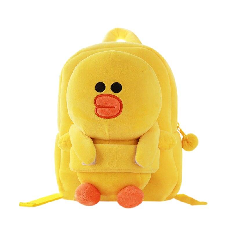 Cartoon Animal Kids Plush Backpack School Bag Cute Mini Children Kindergarten Gift Boy Girl Fashion Knapsack Accessories Supply