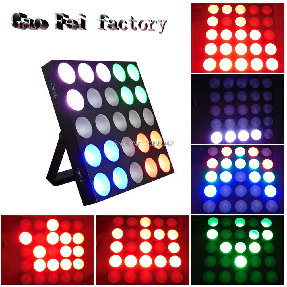 Disco Light 25*10W RGB LED Matrix COB DMX512 5x5 For Bar Club