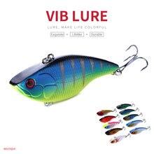 HENGJIA 1PC 7.5cm 18g 6#hooks game VIB hard fishing lures wobble bass pike peche baits isca de pesca tackles