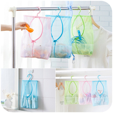 Multifuction Plastic Hanging Storage Bag Breathable Reusable Mesh Bags Organizer Home Kitchen Accessories