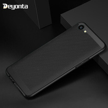 Deyonta Phone Case For OPPO R15 Mirror F5 A83 Cases Fashion Hollow Heat Dissipation Hard PC Cover For Vivo Y83 V9 Coque Funda