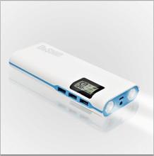 Doshin Pantalla LCD Banco de la Energía 12000 mAh 3 USB Dual LED Luz de Batería Externa powerbank Cargador Portátil Para todos los teléfonos