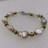 wholesale 20 strands 10 12mm natural baroque freshwater pearl bracelet