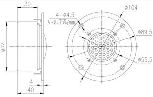Image 4 - HIFIDIY altavoz en vivo hifi de 4 pulgadas con película de cobre de berilio, 6 OHM, 30W, panel de aluminio, altavoz de agudos C1 104S