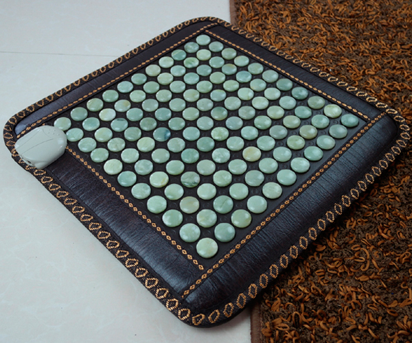 Jade Germanium Health Care Tourmaline Heated Massage Physiotherapy Electric Heated Cushion Nice Bottom Pad 45*45cm Free Shipping best selling korea natural jade heated cushion tourmaline health care germanium electric heating cushion physical therapy mat