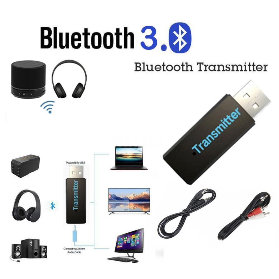 HIPERDEAL <font><b>USB</b></font> <font><b>Bluetooth</b></font> 3,0 Wireless Stereo Audio Musik Sender Für TV MP3 PC Laptop 18Jun27 Drop Schiff F image
