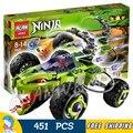 451 шт. Бела 9760 Ninja Fangpyre Грузовик Засада Строительный Блоки Детские Развивающие Игрушки Совместимо С Lego