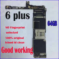 64gb for iphone 6plus 5.5inch Motherboard with full unlocked, for iphone 6p Logic boards without Touch ID