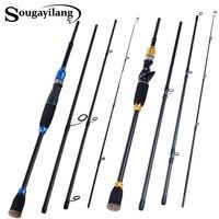 Sougayilang 4 セクション炭素繊維紡績釣竿キャスティング釣竿 O リングラインガイド超軽量釣り竿