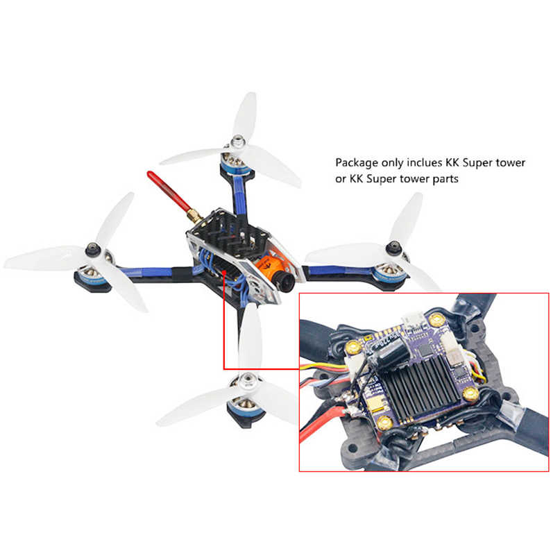 LDARC KK Super Torre F4 + OSD + VTX 40A BLHELIS 4 en 1 CES 600MW ajustable Transmmitter para RC FPV Racing Drone Quadcopter