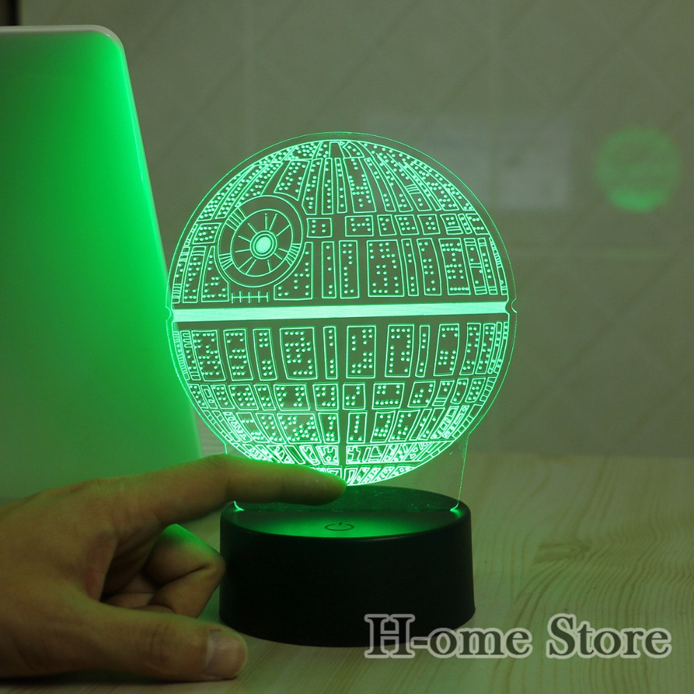 Star Wars Death star 3D LED Night Light Touch Switch Table