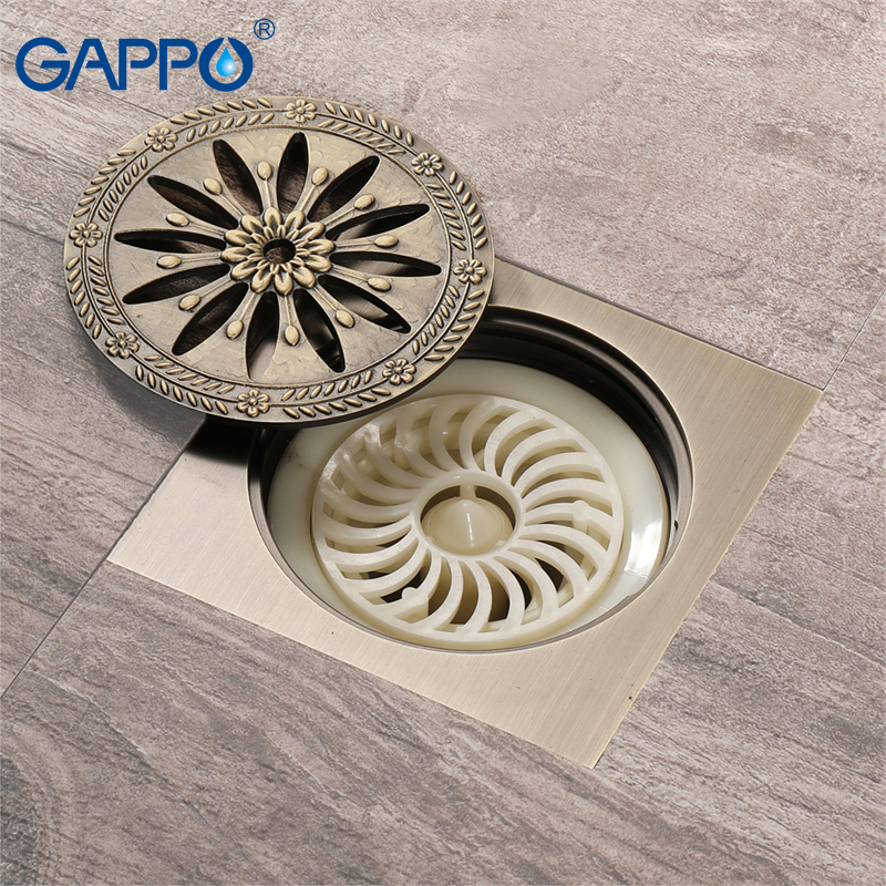 GAPPO drains anti odor floor drain shower waste drainers bathroom floor drains cover bathroom drainers stoppers